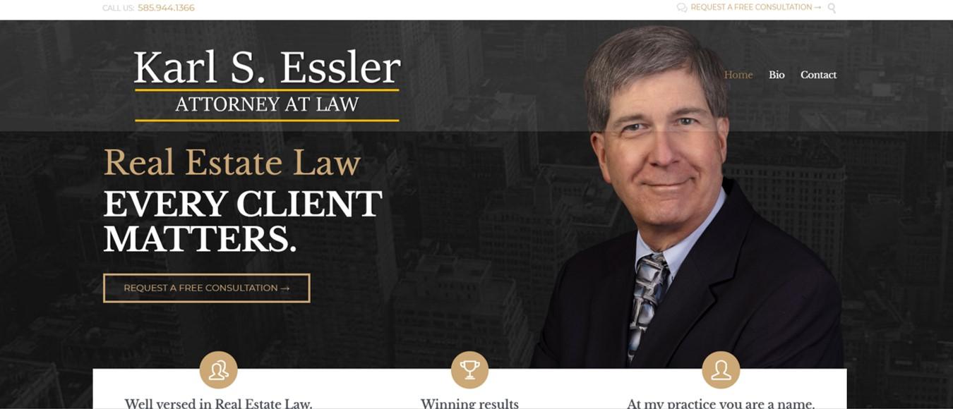 real estate law web design, attorney web design